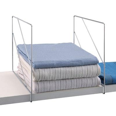 Neu Home Shelf Divider 4pc Shiney Silver
