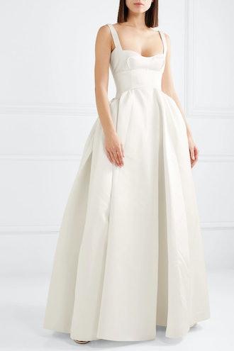 Diamond Duchesse-Satin Gown