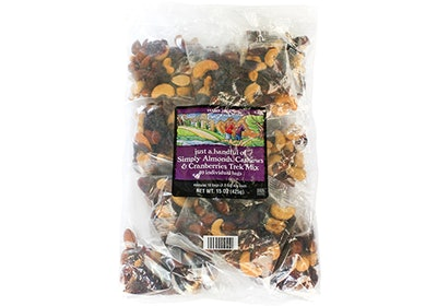 Just A Handful Of Simply Almonds, Cashews & Cranberries Trek Mix