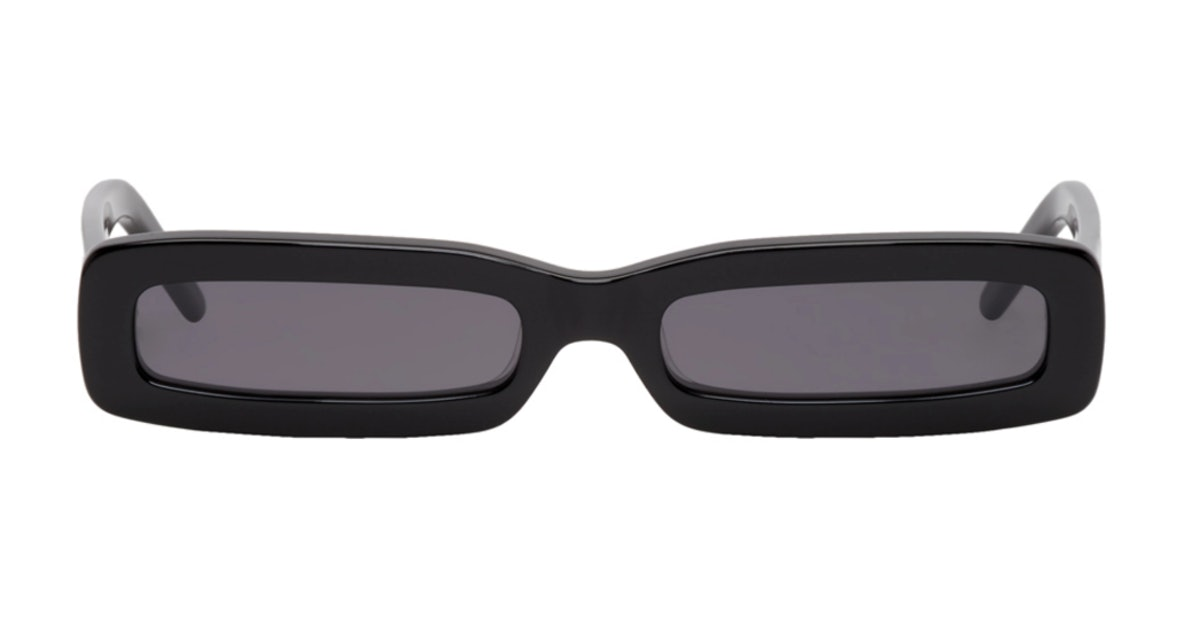 Black Long Rectangular Sunglasses
