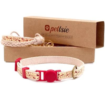 Cat Collar With Friendship Bracelet
