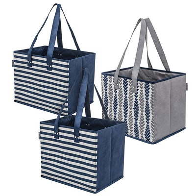 Planet E Reusable Structured Grocery Bags