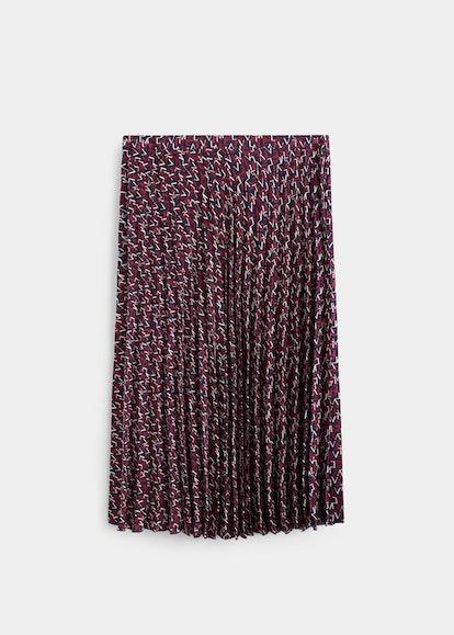 Violeta Printed Pleated Skirt