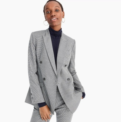 Double Breasted Blazer in Houndstooth