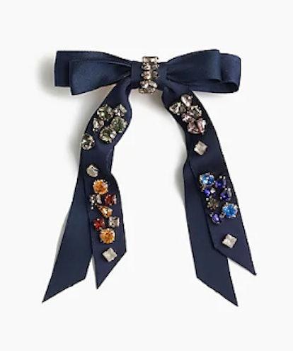 Embellished Bow Barrette