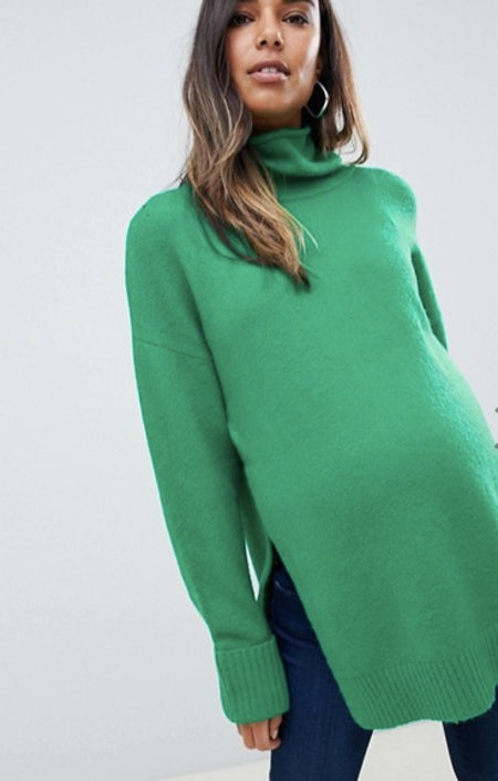 Maternity/Nursing chunky sweater with high neck