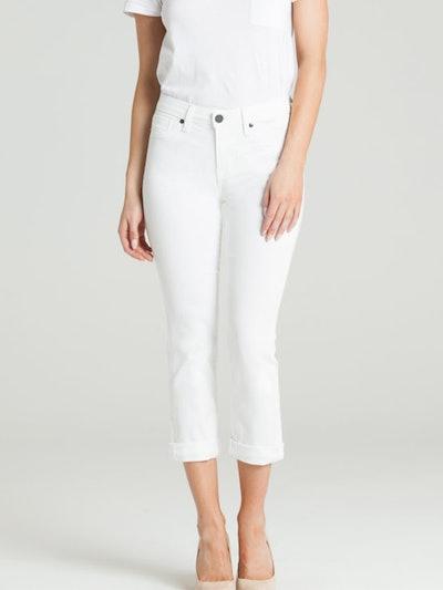 Courtney Cuffed Crop In Eternal White