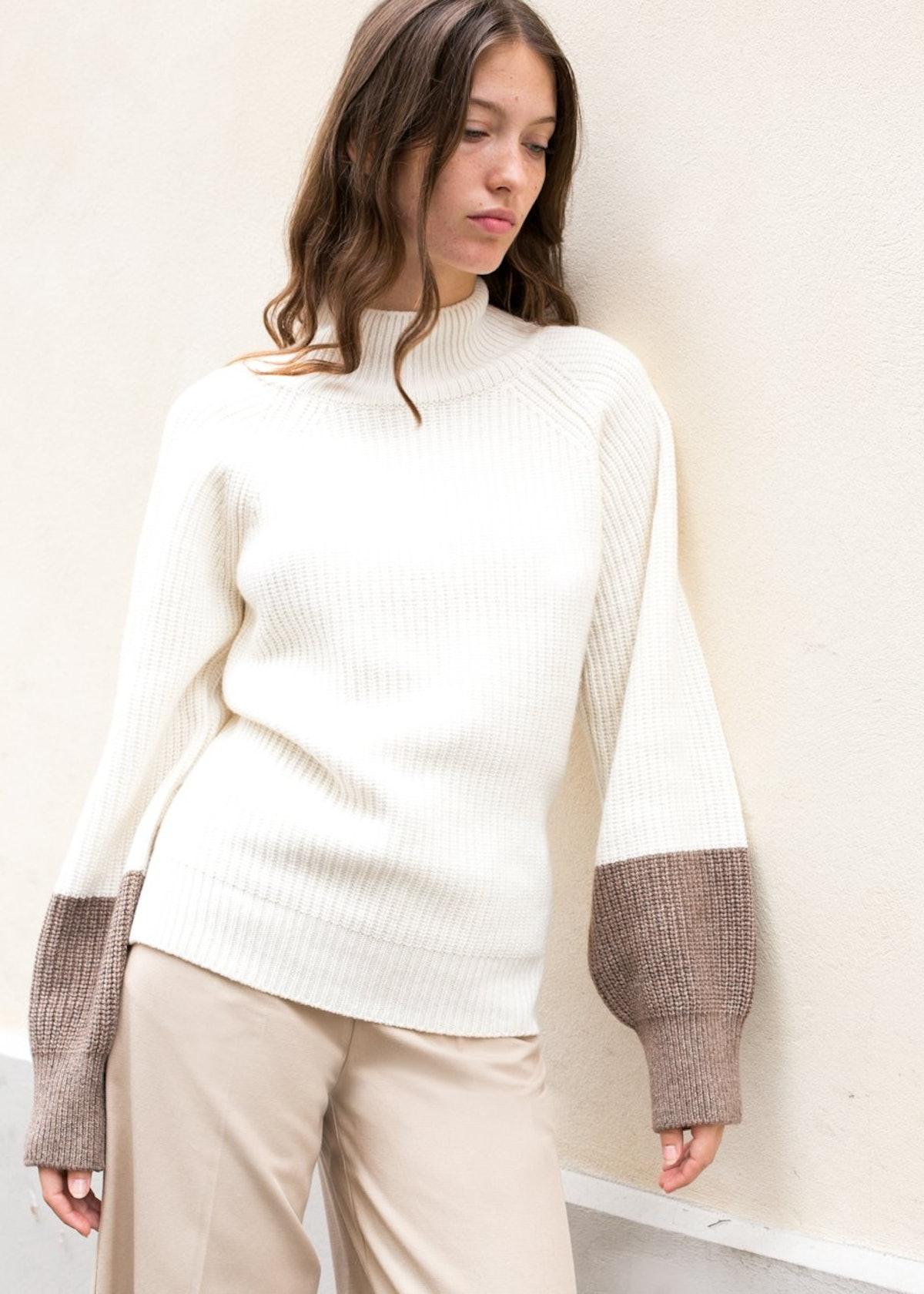 Wallis Ribbed Sweater by Eudon Choi