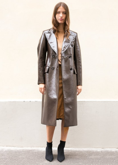 Brown Helena Coat by Eudon Choi
