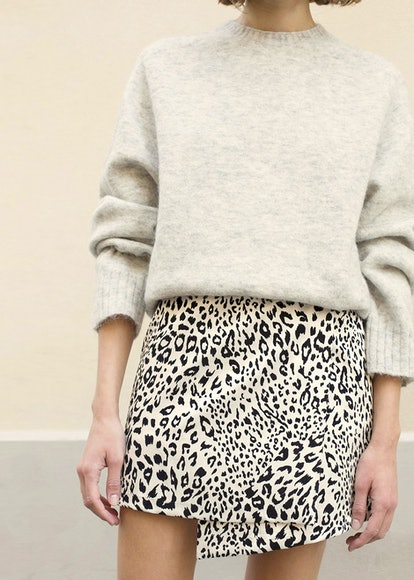 Leopard Crossover Mini Skirt