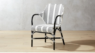 Loomis Black and White Woven Chair
