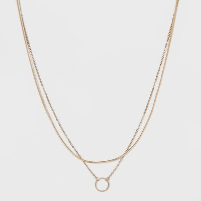 SUGARFIX by BaubleBar Layered Necklace with Pendant - Gold
