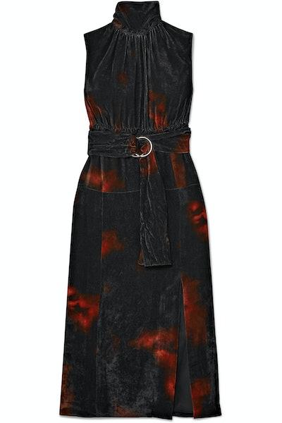 Tie-Dye Ruffle Dress