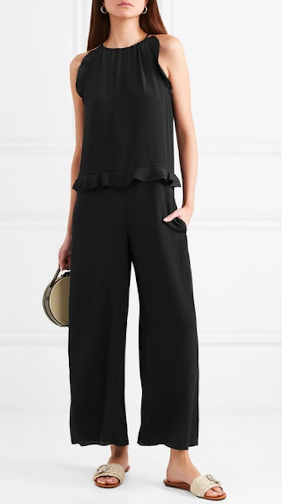 Ruffle-Trimmed Cady Jumpsuit