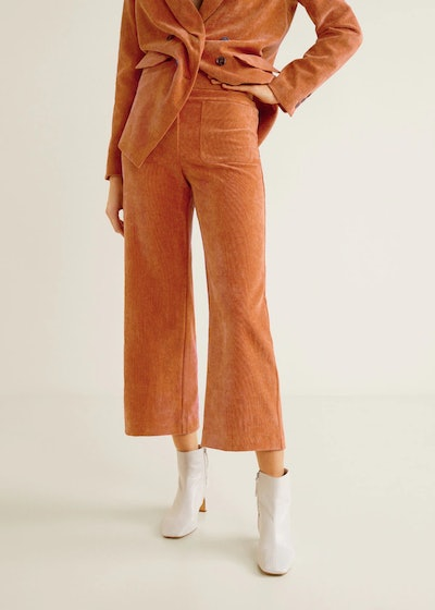 Pockets Corduroy Trousers