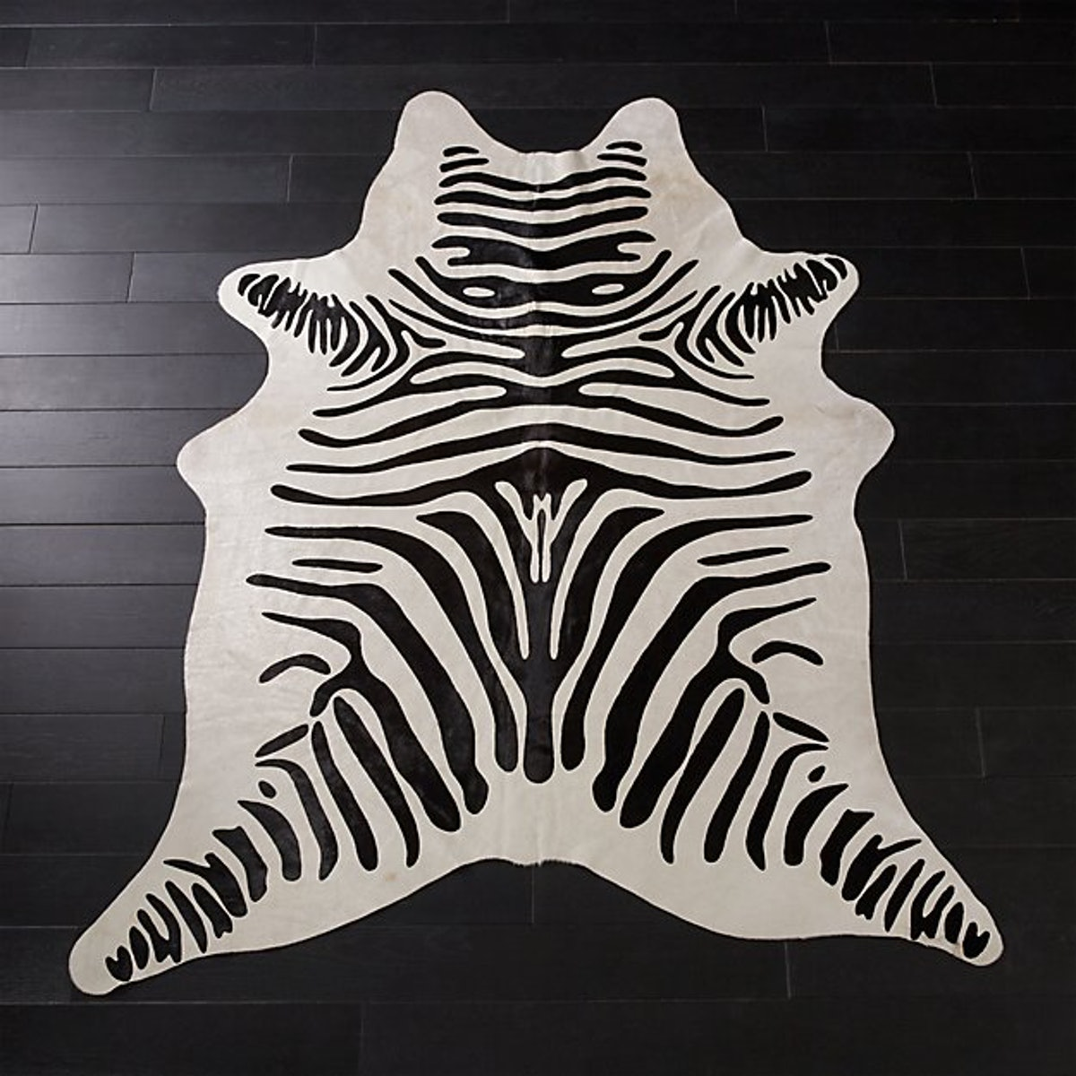 Faux Zebra Hide Rug 5'x8'