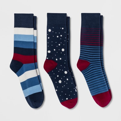 Pair of Thieves Men's Striped Socks 3pk - 8-12