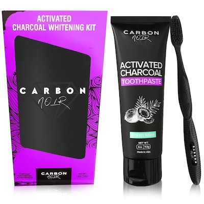 Charcoal Toothpaste And Toothbrush Kit