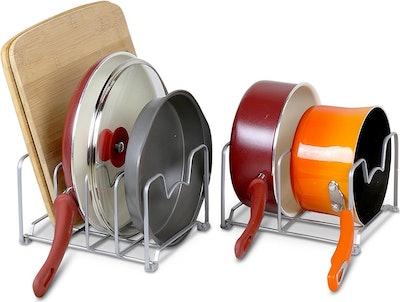 SimpleHouseware Pan and Pot Lid Organizer Rack (2 Pack)