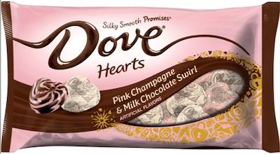 Pink Champagne & Milk Chocolate Swirl Hearts