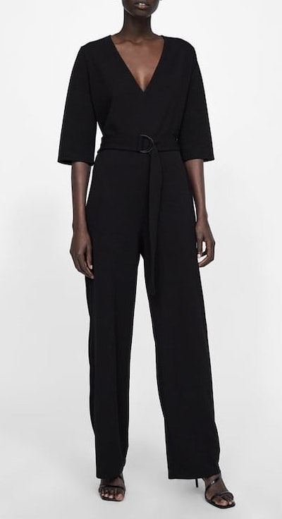 Jumpsuit With Belt And Buckle