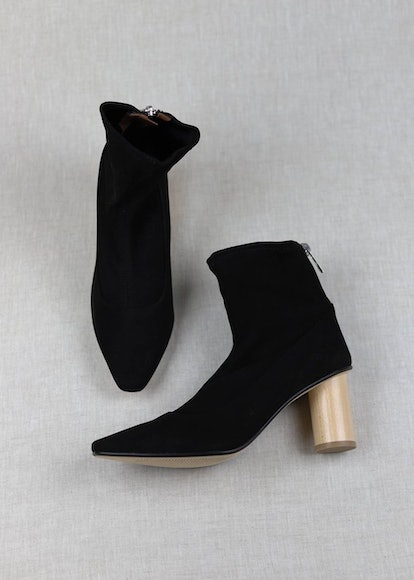 LOQ Black Vero Stretch Suede Ankle Boots