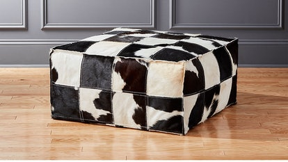 Large Spotted Cowhide Pouf