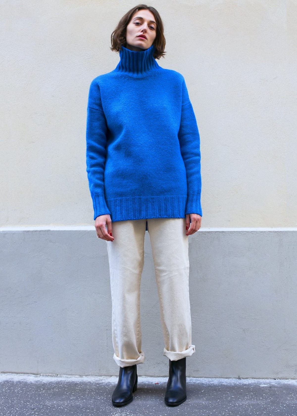 Hyde's Pullover Sweater in Blue by Rachel Comey