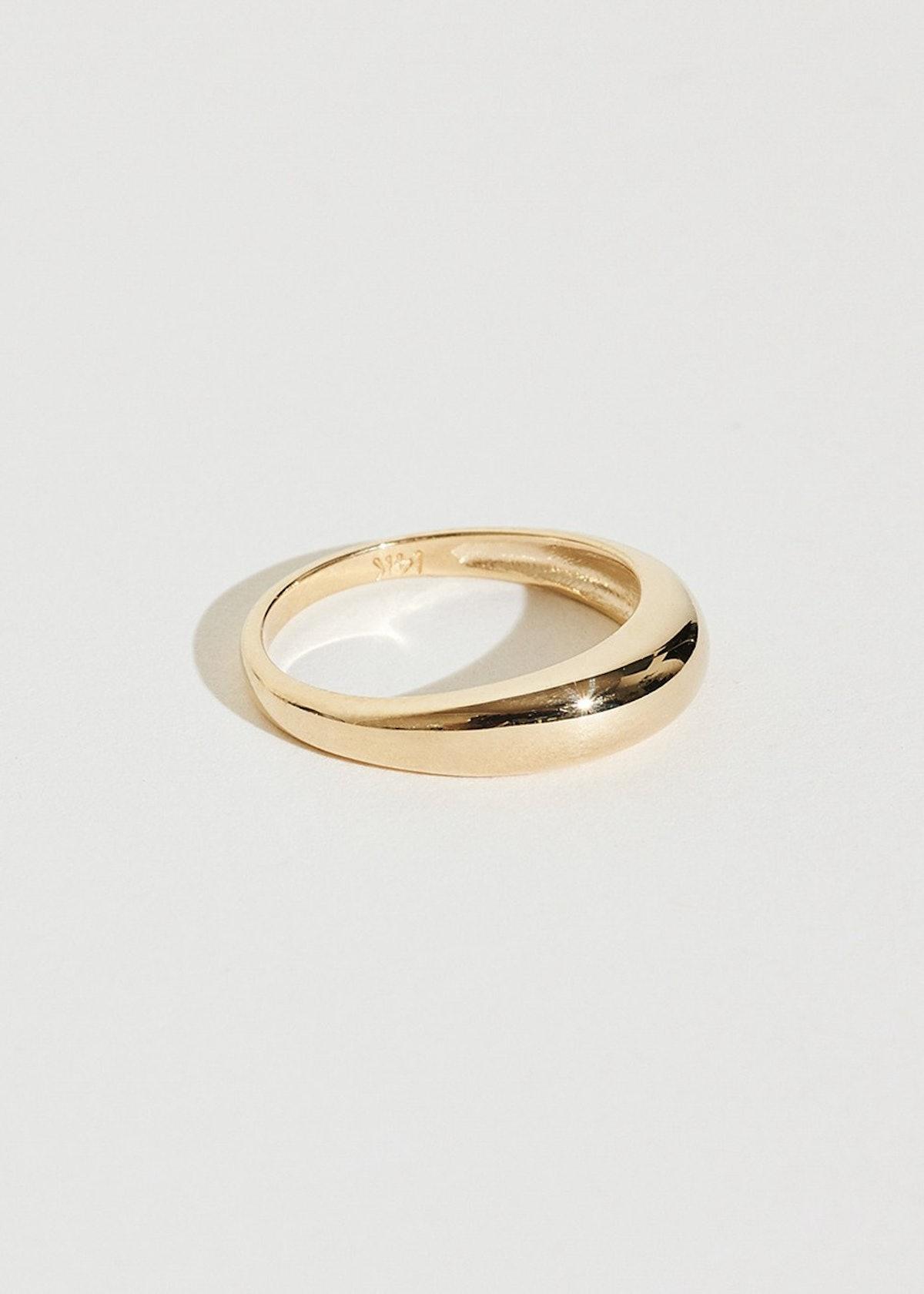 J. Hannah Gold Form Pinky Ring I