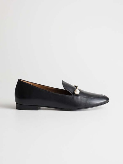 Duo Pearl Buckle Loafers