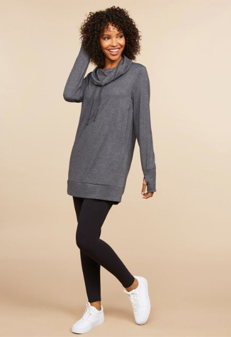 Hooded Side Access Nursing Tunic Dress