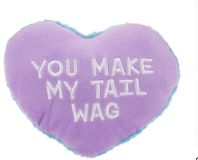 "Top Paw® Valentine ""You Make My Tail Wag"" Heart Dog Toy"