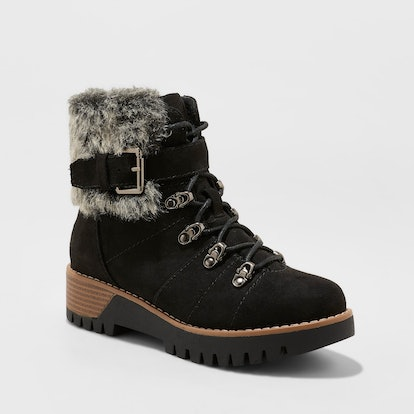 Women's Deanna Faux Fur Lace Up Hiker Boots - Universal Thread™