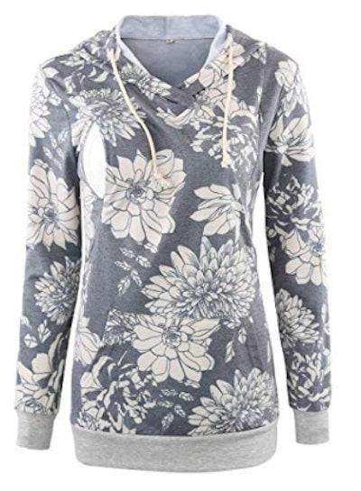 Women's Fleece Maternity & Nursing Sweatshirt Hoodie
