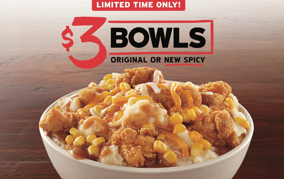 KFC's $3 Famous Bowl Promo Includes This New Spicy Version With A Kick