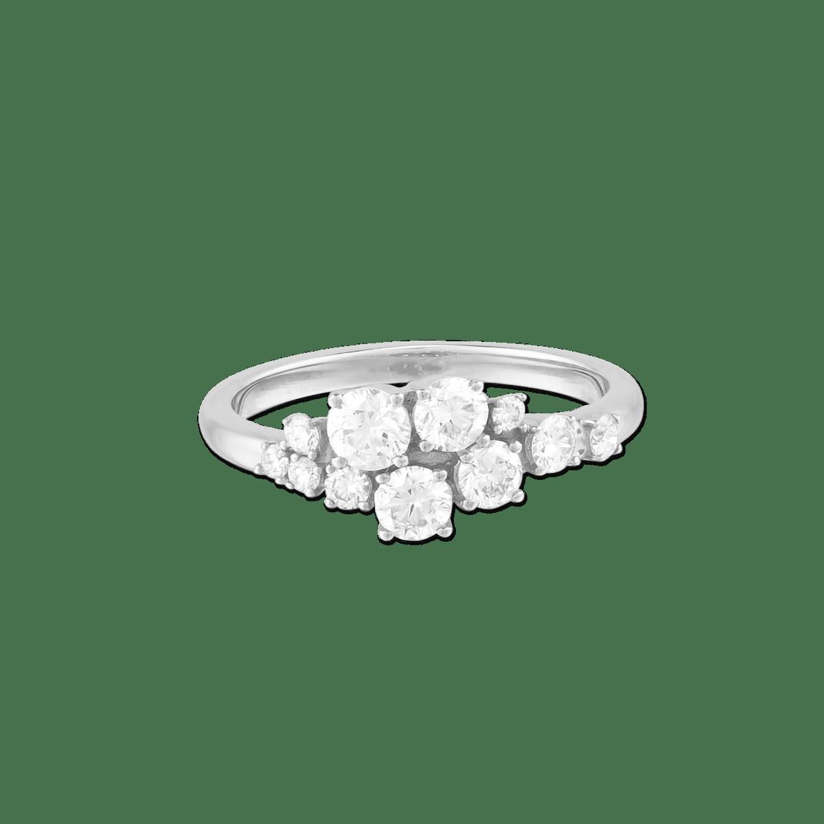 Diamonds Cluster Ring