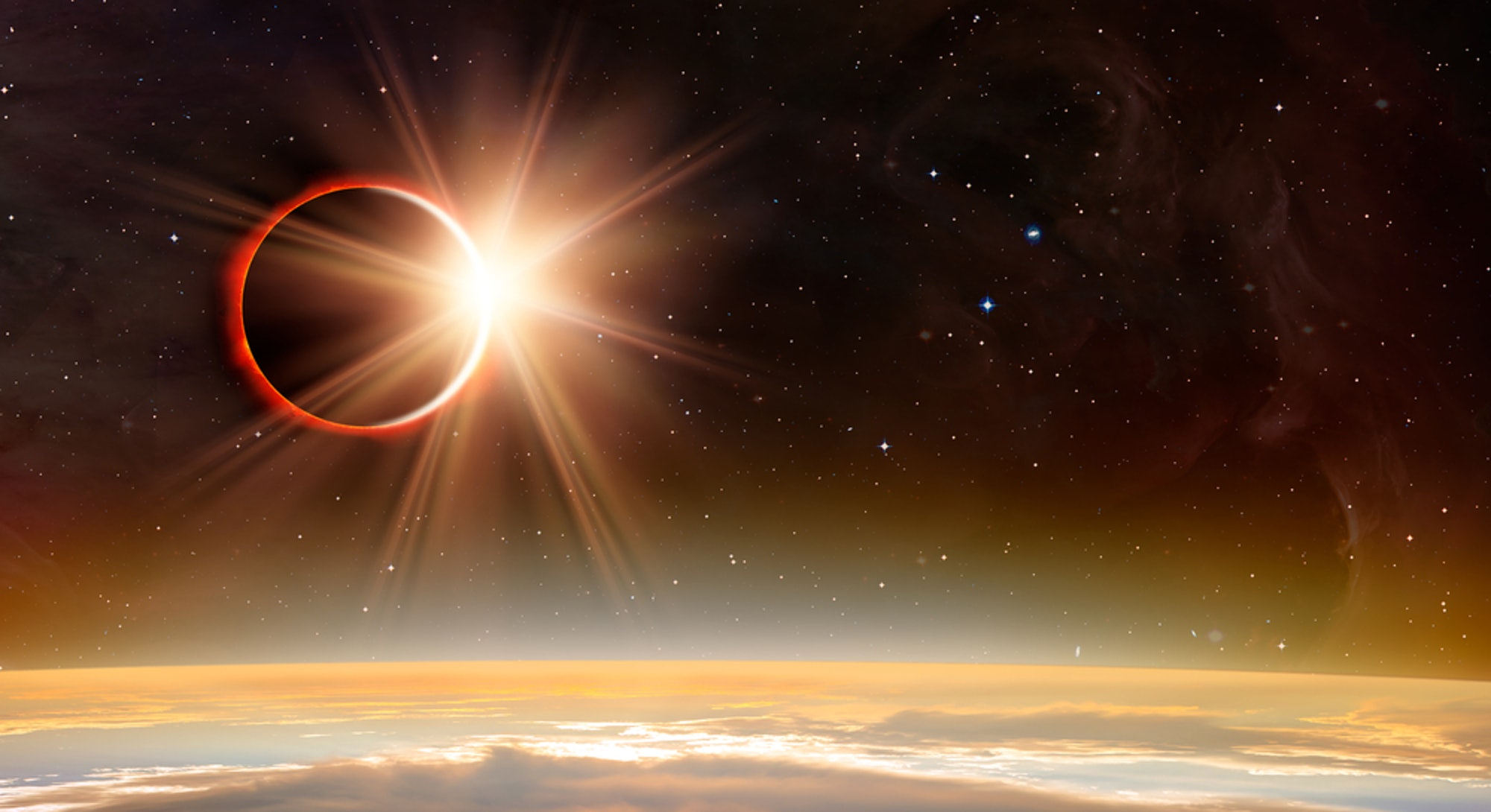 The June 2021 new moon is also a solar eclipse.