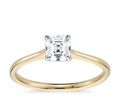 Petite Solitaire Engagement Ring 18k Yellow Gold