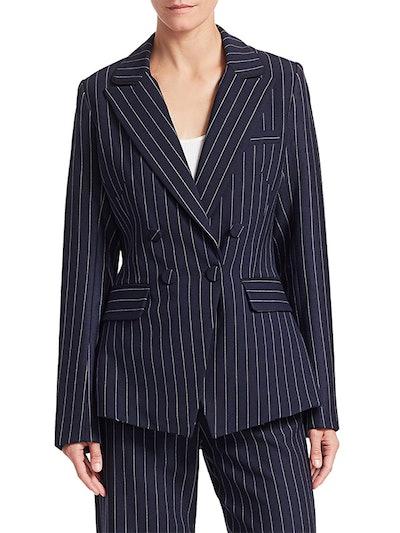 Pinstripe Tailor-Fit Blazer