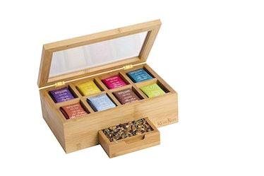 KicheNest Bamboo Tea Box Organizer