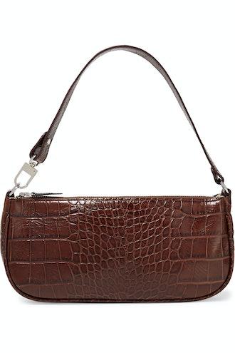 Rachel Nutella Croco Embossed Leather
