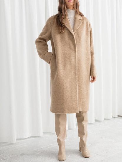 Wool Blend Long Coat