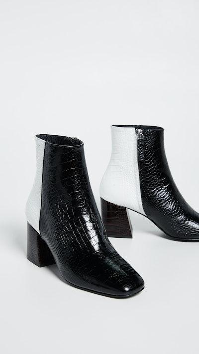 Charm Angled Heel Booties