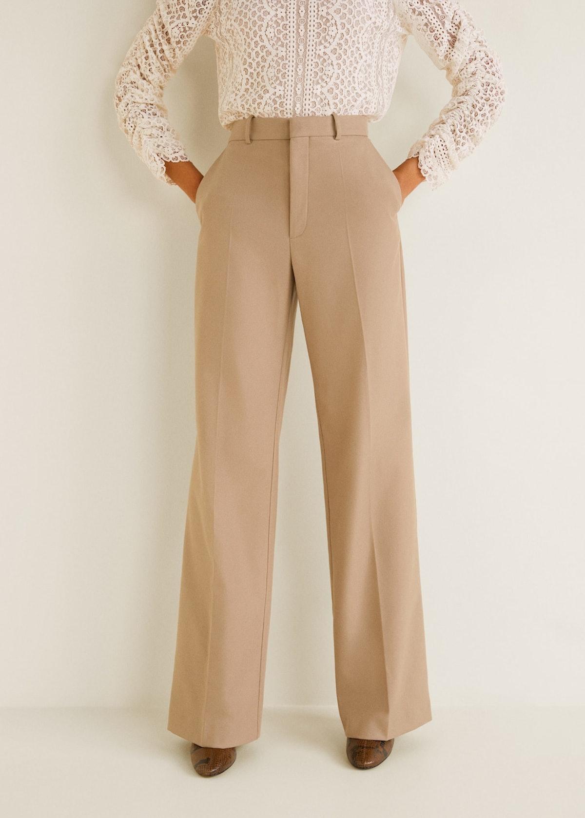 High-waist Straight Trousers