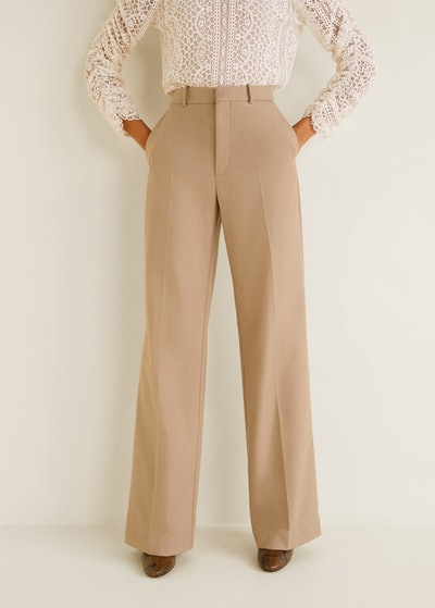 High-waist Straight Trousers