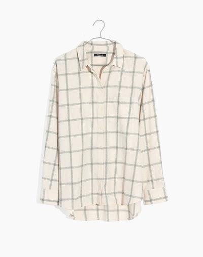 Flannel Oversized Ex-Boyfriend Shirt