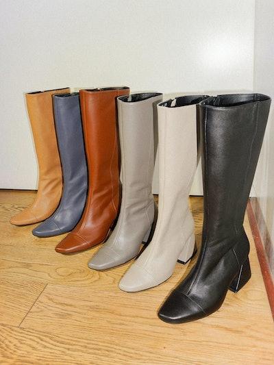 Yy Boots Vol 3 -Ash Grey Camel Brown