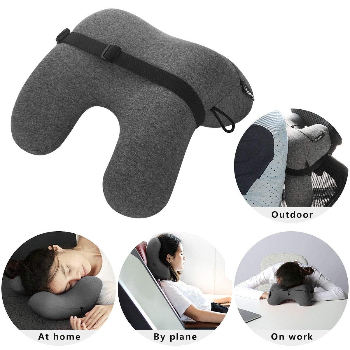OlymFits Memory Foam Travel Pillow