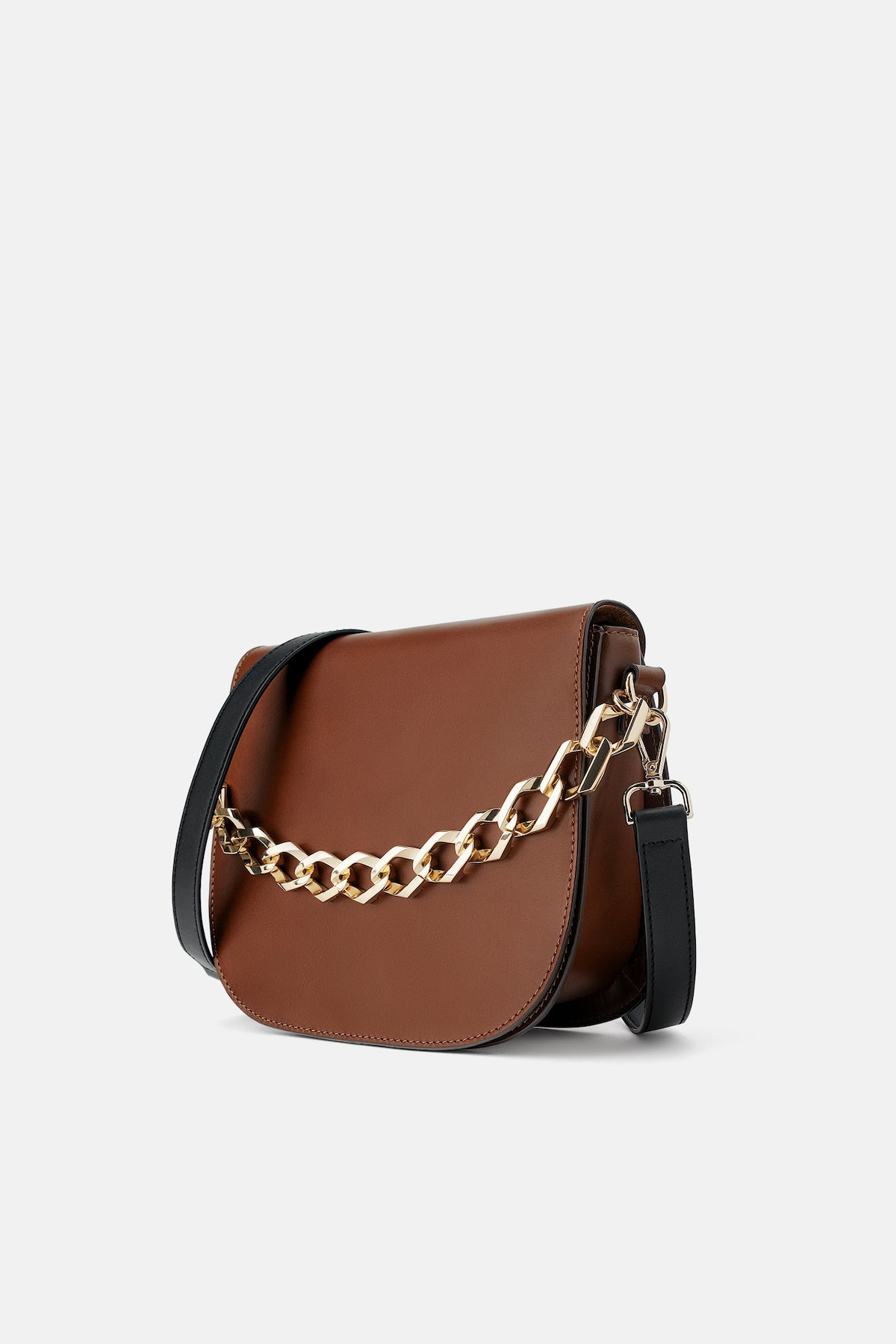 LEATHER CROSSBODY BAG WITH CHAIN