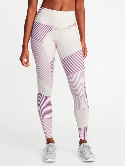 High-Rise Printed Compression Leggings